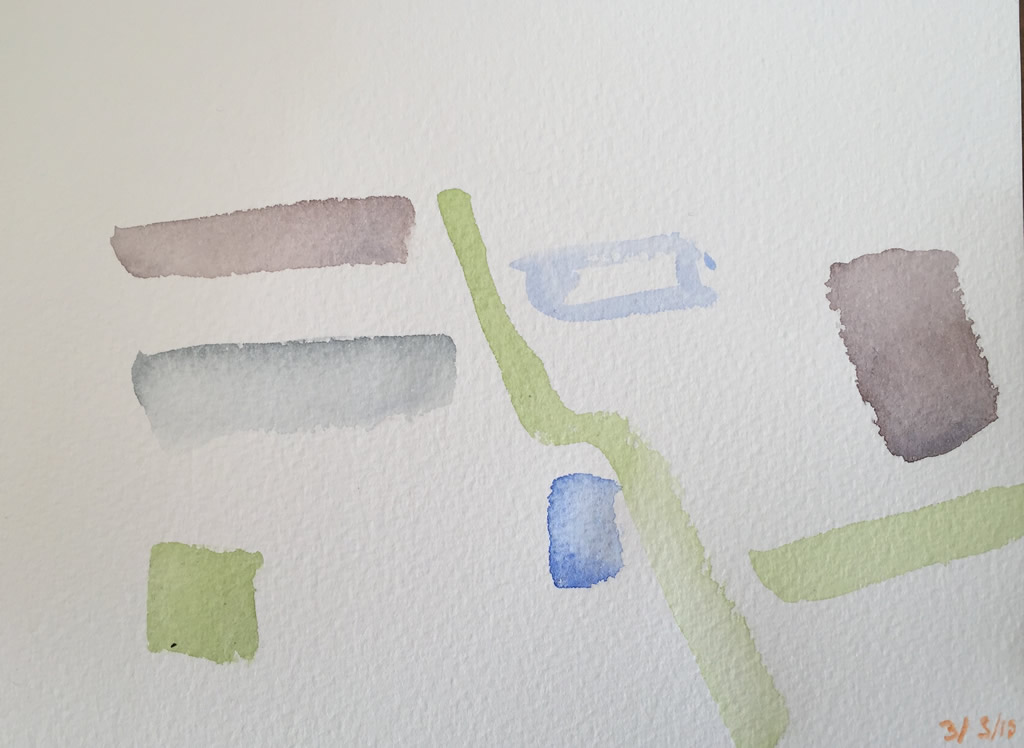 Watercolour on paper - 20x14cm - March 2015