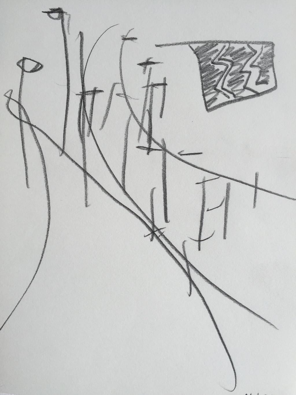 Pencil & crayon on paper - 15cmx20cm - March 2015